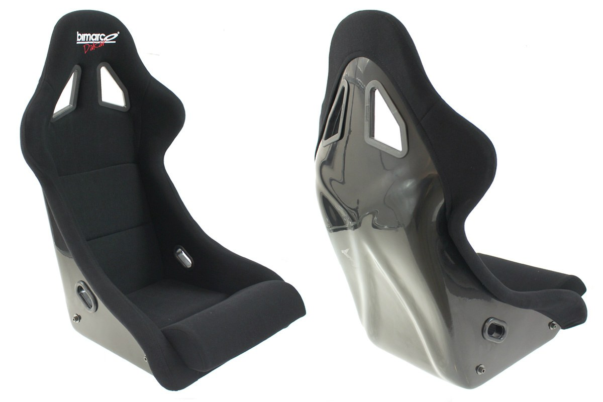 Fotel Sportowy Bimarco Dakar Welur Black FIA - GRUBYGARAGE - Sklep Tuningowy